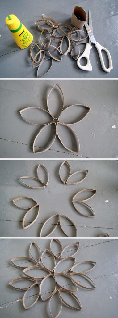 Pliage Fleur En Papier Toilette Interesting Coller Feuilles De