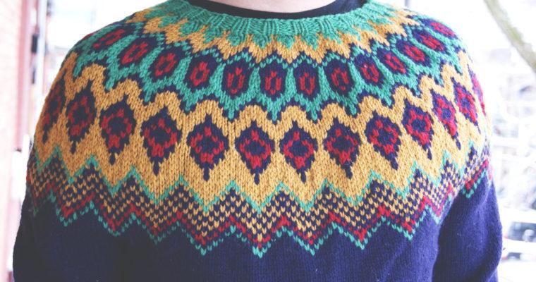 Chandail pour homme en laine aran
