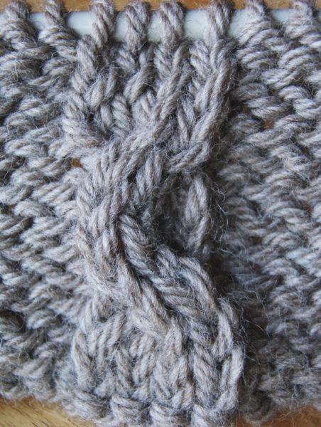 torsades tricotées