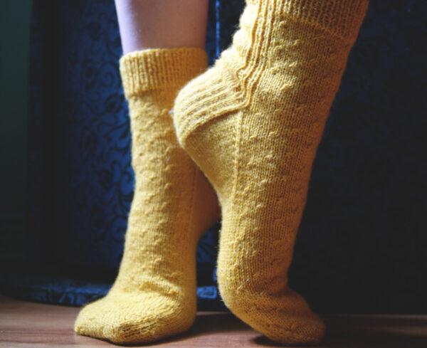 Bas canola patron gratuit de tricot