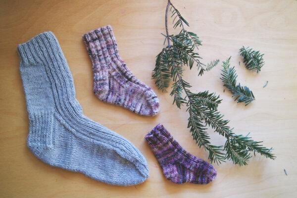 Bas extensibles tricotés pour homme, femme, enfant et bébé